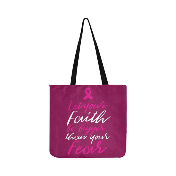 Let Your Faith Be Bigger Than Your Fear Jesus Breast Cancer Reusable Produce Bag-One Size-Maroon-JoyHip.Com
