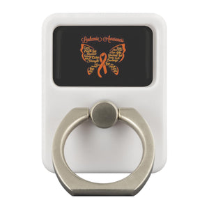Leukemia Cancer Awareness Butterfly Orange Phone Ring Holder Kickstand Gift Idea-Ringr - Multi-Tool Accessory-Ringr - Multi-Tool Accessory-JoyHip.Com