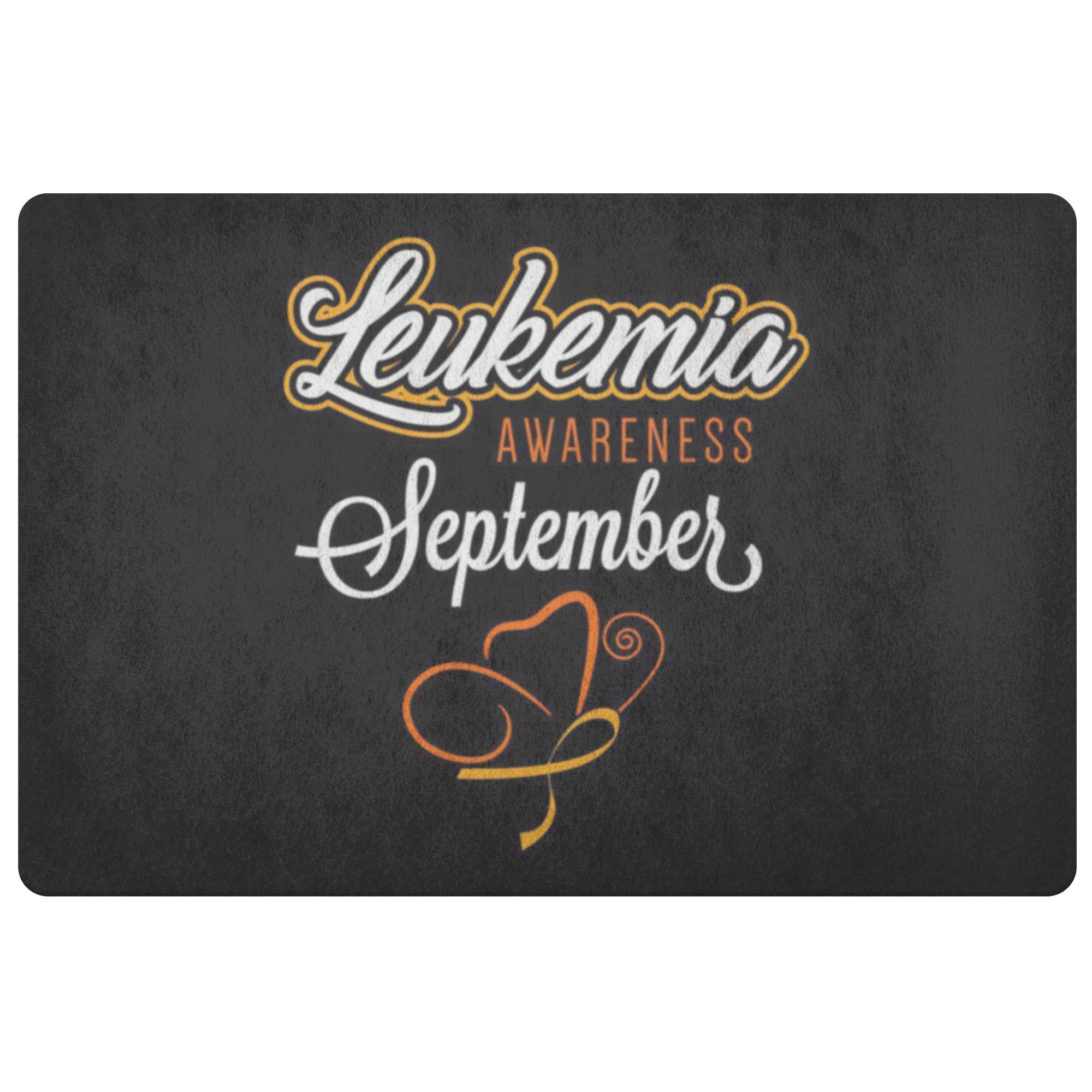 Leukemia Cancer Awareness September Orange Ribbon 18X26 Thin Indoor Door Mat Rug-Doormat-Black-JoyHip.Com