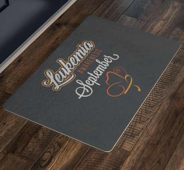 Leukemia Cancer Awareness September Orange Ribbon 18X26 Thin Indoor Door Mat Rug-Doormat-JoyHip.Com