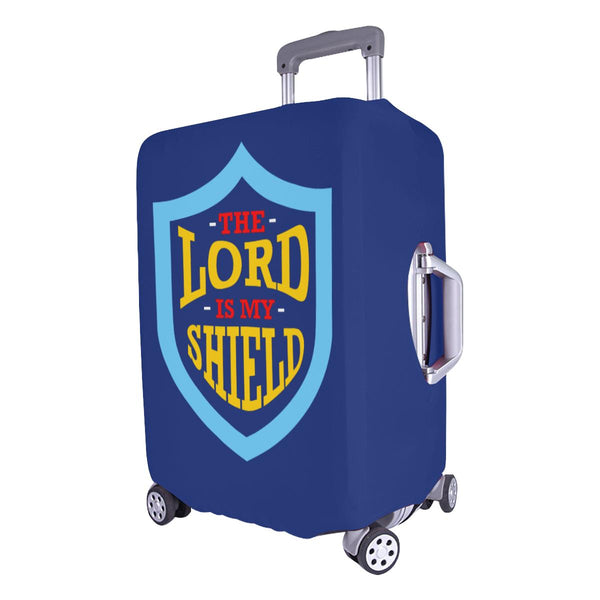 Lord Is My Shield Christian Travel Luggage Cover Suitcase Protector 18-28 Inch-JoyHip.Com