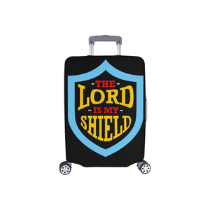 Lord Is My Shield Christian Travel Luggage Cover Suitcase Protector 18-28 Inch-S-Black-JoyHip.Com
