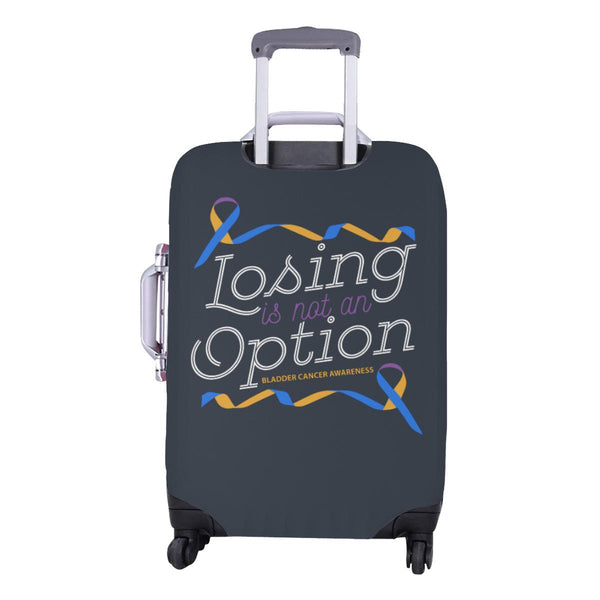 Losing Is Not An Option Bladder Cancer Awareness Travel Luggage Cover Protector-JoyHip.Com
