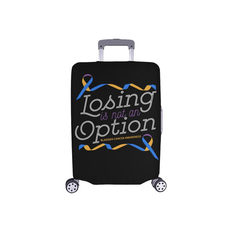 Losing Is Not An Option Bladder Cancer Awareness Travel Luggage Cover Protector-S-Black-JoyHip.Com
