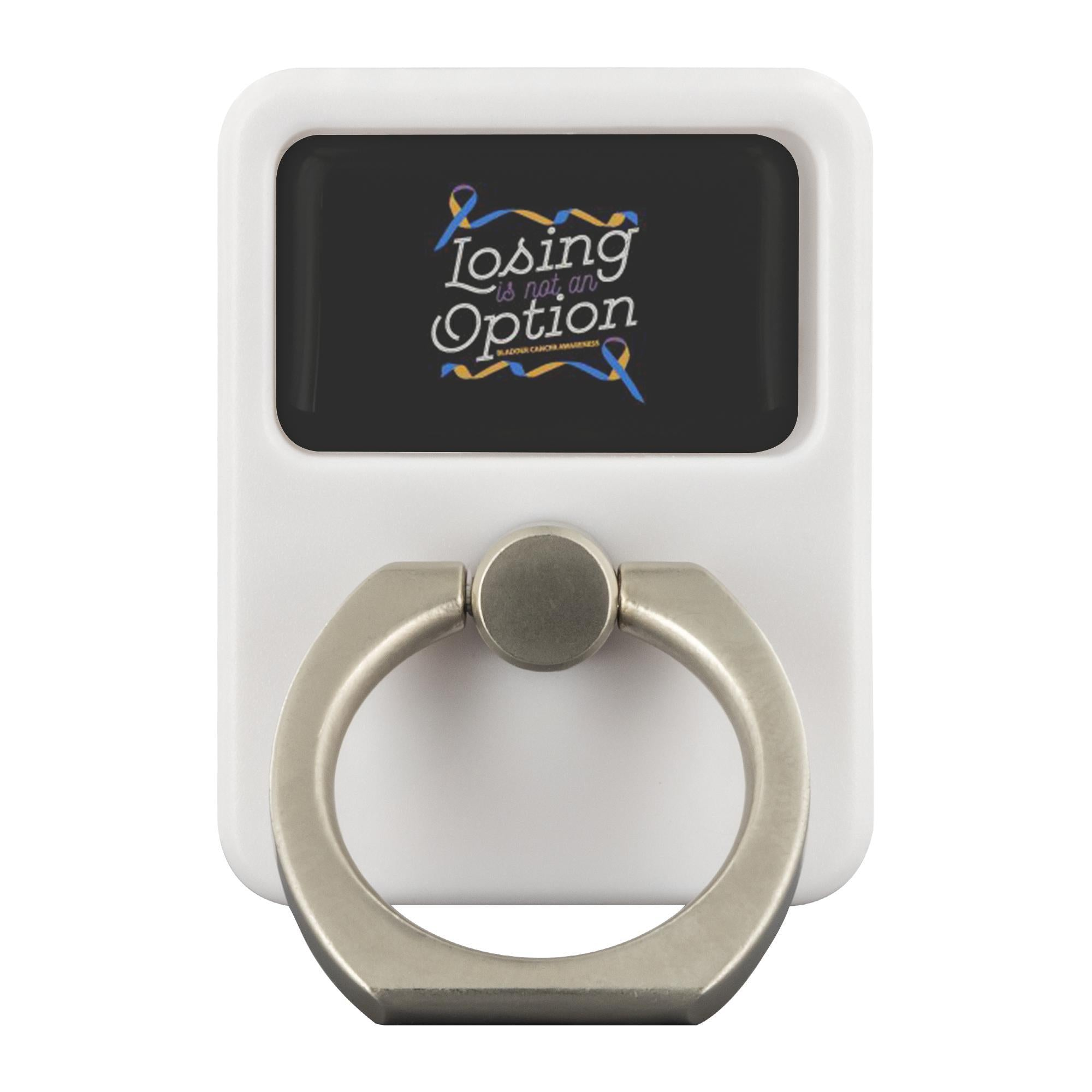 Losing Is Not An Option Bladder Cancer Phone Ring Holder Kickstand Gifts-Ringr - Multi-Tool Accessory-Ringr - Multi-Tool Accessory-JoyHip.Com