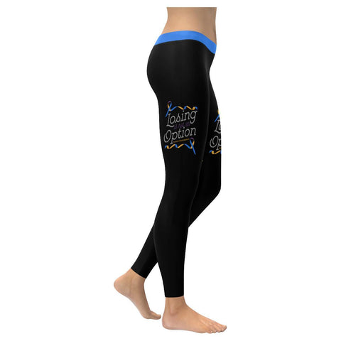 Losing Is Not An Option Bladder Cancer Soft Leggings For Women Gift Ideas-XXS-Black-JoyHip.Com