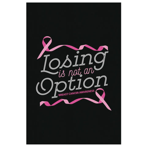 Losing Is Not An Option Breast Cancer Awareness Canvas Wall Art Home Room Decor-Canvas Wall Art 2-8 x 12-JoyHip.Com