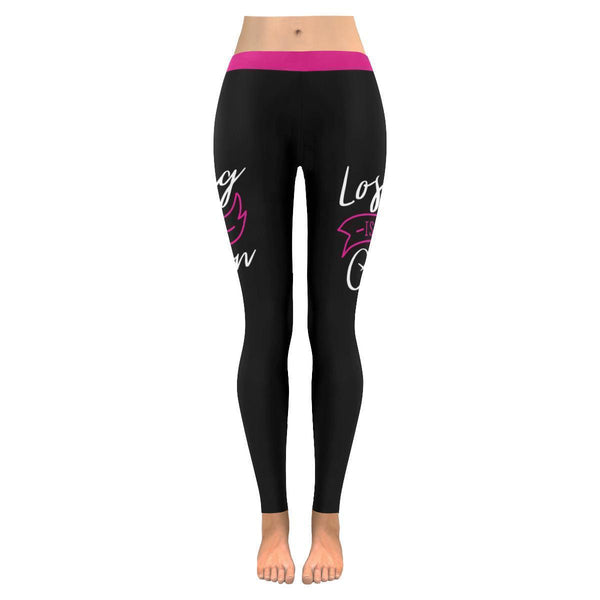 Losing Is Not An Option Breast Cancer Pink Ribbon UPF40+ Womens Leggings-JoyHip.Com