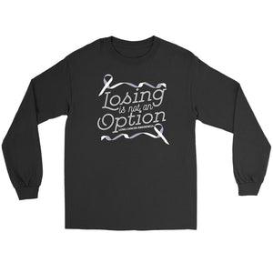 Losing Is Not An Option Lung Cancer Awareness Gift Ideas Long Sleeve Shirt-T-shirt-Gildan Long Sleeve Tee-Black-JoyHip.Com