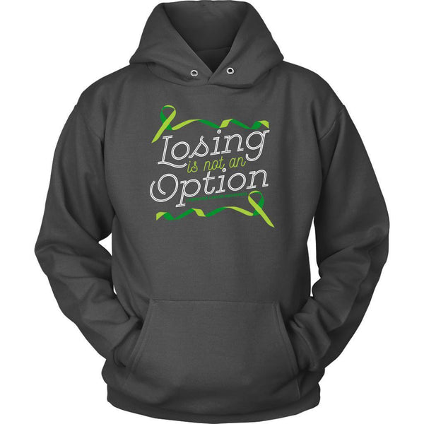 Losing Is Not An Option Lymphoma Awareness Awesome Cool Gift Ideas Hoodie-T-shirt-Unisex Hoodie-Grey-JoyHip.Com