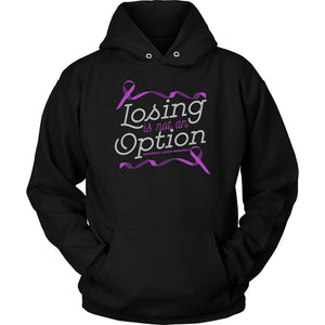 Losing Is Not An Option Pancreatic Cancer Awareness Awesome Gift Ideas Hoodie-T-shirt-Unisex Hoodie-Black-JoyHip.Com
