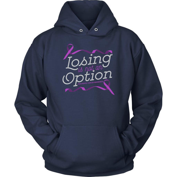 Losing Is Not An Option Pancreatic Cancer Awareness Awesome Gift Ideas Hoodie-T-shirt-Unisex Hoodie-Navy-JoyHip.Com