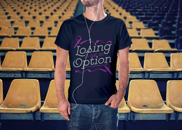 Losing Is Not An Option Pancreatic Cancer Awareness Awesome Gift Ideas TShirt-T-shirt-JoyHip.Com