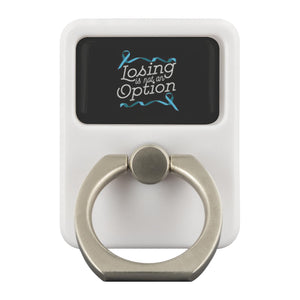 Losing Is Not An Option Prostate Cancer Awareness Phone Ring Holder Kickstand-Ringr - Multi-Tool Accessory-Ringr - Multi-Tool Accessory-JoyHip.Com