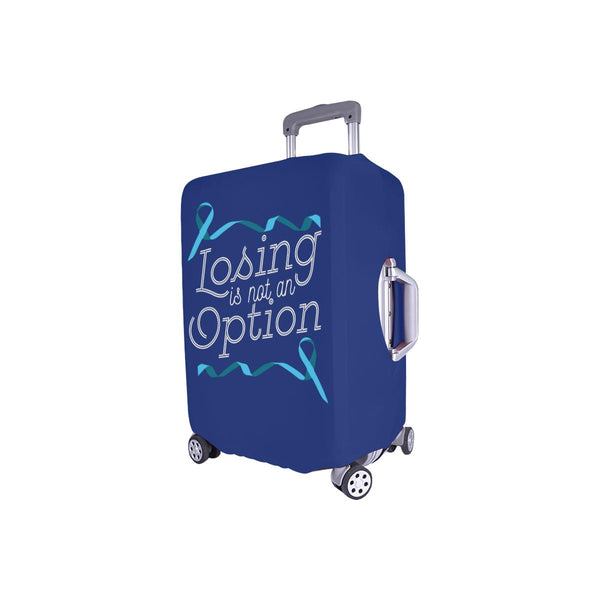 Losing Is Not An Option Prostate Cancer Awareness Travel Luggage Cover Suitcase-JoyHip.Com