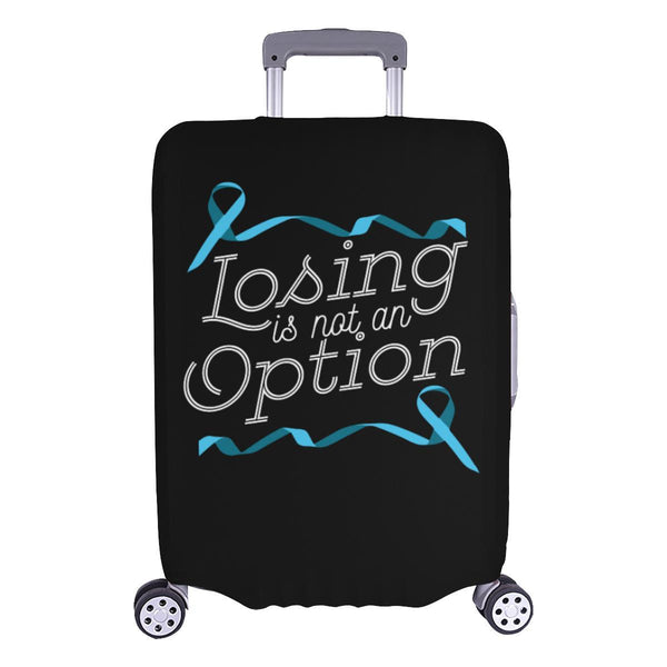 Losing Is Not An Option Prostate Cancer Awareness Travel Luggage Cover Suitcase-L-Black-JoyHip.Com