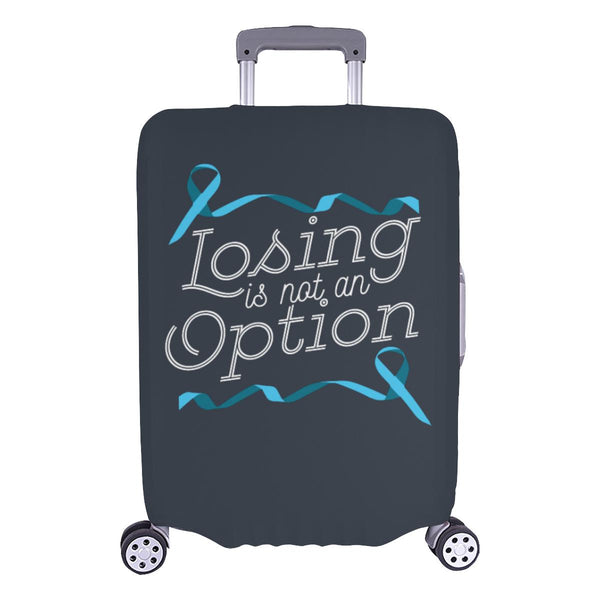 Losing Is Not An Option Prostate Cancer Awareness Travel Luggage Cover Suitcase-L-Grey-JoyHip.Com