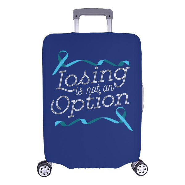 Losing Is Not An Option Prostate Cancer Awareness Travel Luggage Cover Suitcase-L-Navy-JoyHip.Com