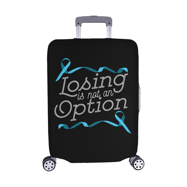 Losing Is Not An Option Prostate Cancer Awareness Travel Luggage Cover Suitcase-M-Black-JoyHip.Com