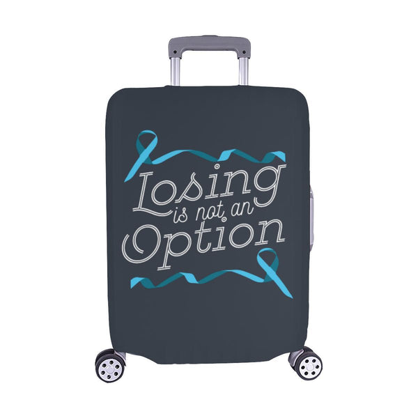 Losing Is Not An Option Prostate Cancer Awareness Travel Luggage Cover Suitcase-M-Grey-JoyHip.Com
