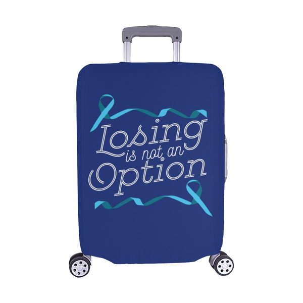 Losing Is Not An Option Prostate Cancer Awareness Travel Luggage Cover Suitcase-M-Navy-JoyHip.Com