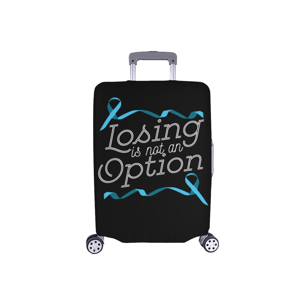 Losing Is Not An Option Prostate Cancer Awareness Travel Luggage Cover Suitcase-S-Black-JoyHip.Com