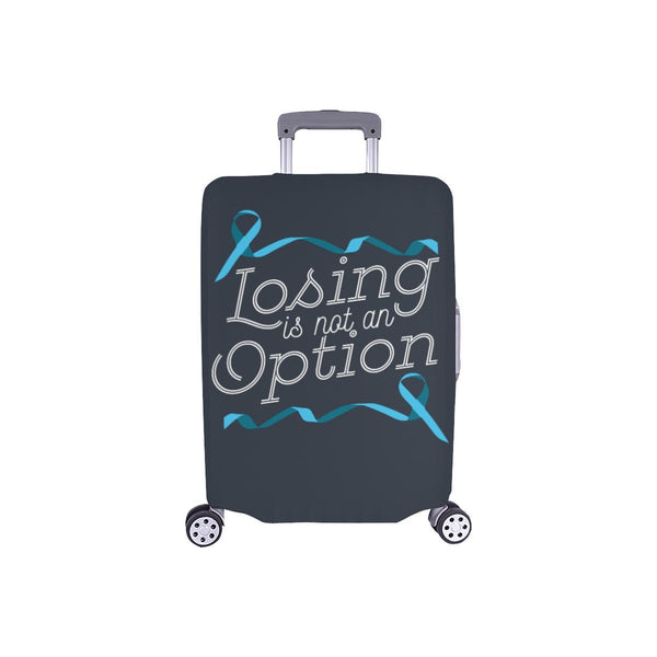 Losing Is Not An Option Prostate Cancer Awareness Travel Luggage Cover Suitcase-S-Grey-JoyHip.Com