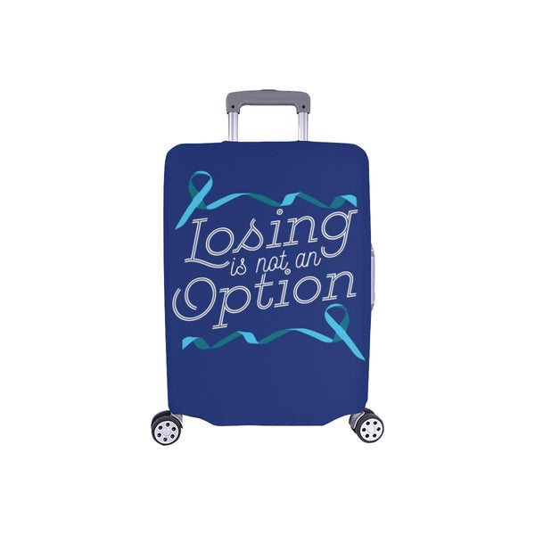 Losing Is Not An Option Prostate Cancer Awareness Travel Luggage Cover Suitcase-S-Navy-JoyHip.Com