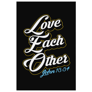 Love Each Other John 13:34 Christian Canvas Wall Art Room Decor Gift Religious-Canvas Wall Art 2-8 x 12-JoyHip.Com