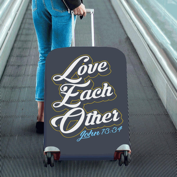 Love Each Other John 13:34 Christian Travel Luggage Cover Suitcase Protector-JoyHip.Com