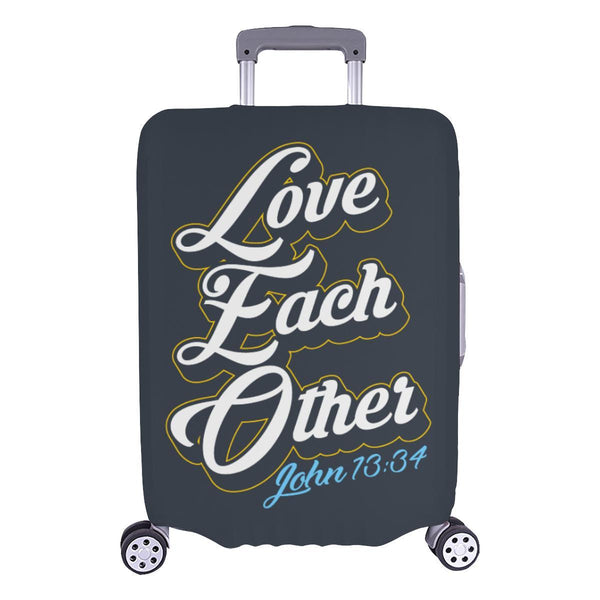Love Each Other John 13:34 Christian Travel Luggage Cover Suitcase Protector-L-Grey-JoyHip.Com