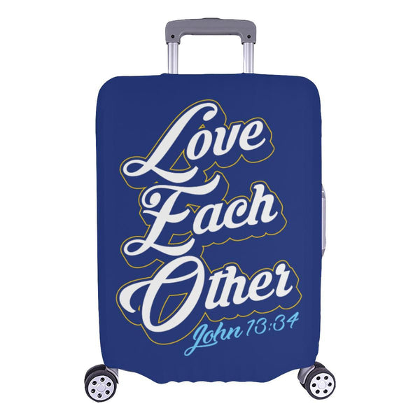 Love Each Other John 13:34 Christian Travel Luggage Cover Suitcase Protector-L-Navy-JoyHip.Com