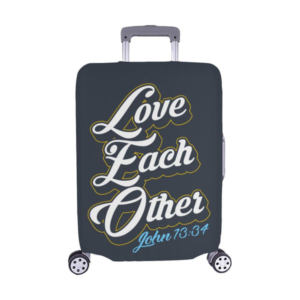 Love Each Other John 13:34 Christian Travel Luggage Cover Suitcase Protector-M-Grey-JoyHip.Com