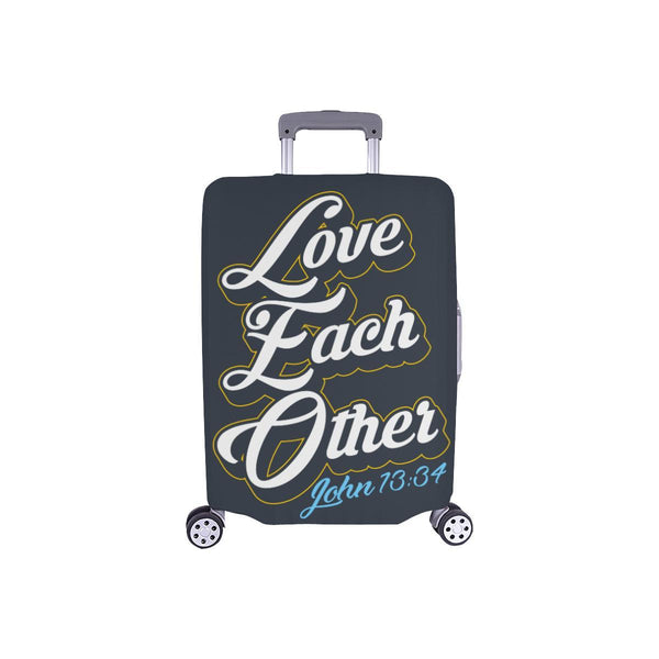 Love Each Other John 13:34 Christian Travel Luggage Cover Suitcase Protector-S-Grey-JoyHip.Com
