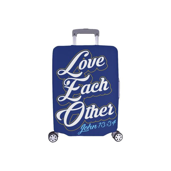 Love Each Other John 13:34 Christian Travel Luggage Cover Suitcase Protector-S-Navy-JoyHip.Com