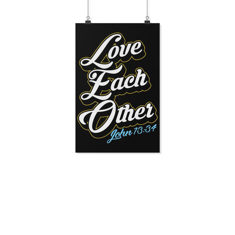 Love Each Other John13:34 Christian Poster Wall Art Room Decor Gift Religious-Posters 2-11x17-JoyHip.Com