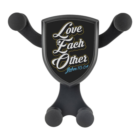 Love Each Other John13:34 Qi Wireless Car Charger Mount Christian Gift Religious-Gravitis Car Charger-Gravitis - Wireless Car Charger-JoyHip.Com