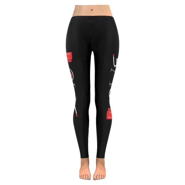 Love Firefighter Fireman Ladderman UPF40+ Moisture Wicking Womens Leggings-JoyHip.Com