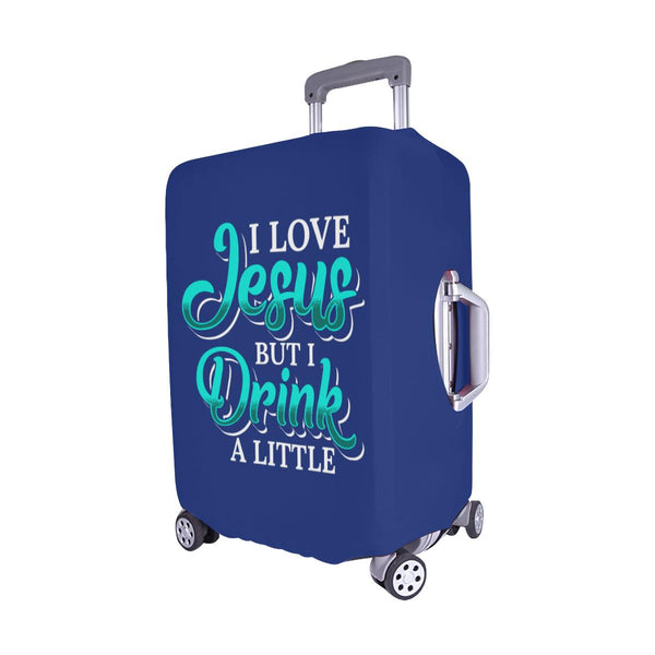 Love Jesus But Drink A Little Christian Travel Luggage Cover Suitcase Protector-JoyHip.Com