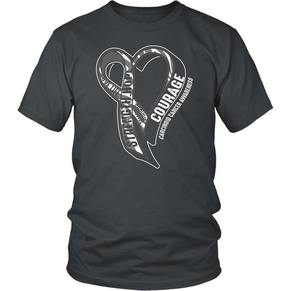 Love Life Survive Strength Hope Courage Carcinoid Cancer Awareness Gift TShirt-T-shirt-District Unisex Shirt-Grey-JoyHip.Com