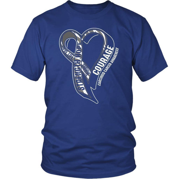Love Life Survive Strength Hope Courage Carcinoid Cancer Awareness Gift TShirt-T-shirt-District Unisex Shirt-Royal Blue-JoyHip.Com