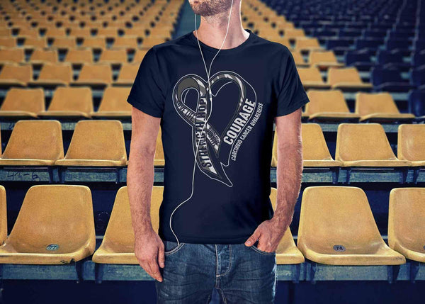 Love Life Survive Strength Hope Courage Carcinoid Cancer Awareness Gift TShirt-T-shirt-JoyHip.Com