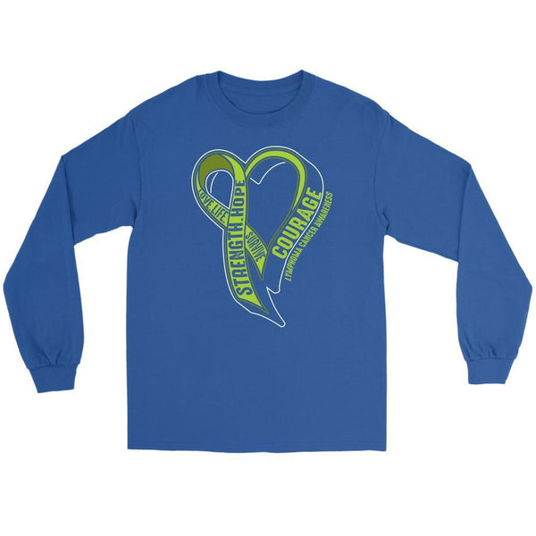 Love Life Survive Strength Hope Courage Lymphoma Awareness Gift Long Sleeve-T-shirt-Gildan Long Sleeve Tee-Royal Blue-JoyHip.Com