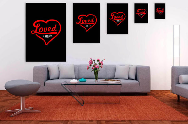Loved 1 John 4:9 Christian Canvas Wall Art Room Decor Gift Ideas Religious-Canvas Wall Art 2-JoyHip.Com