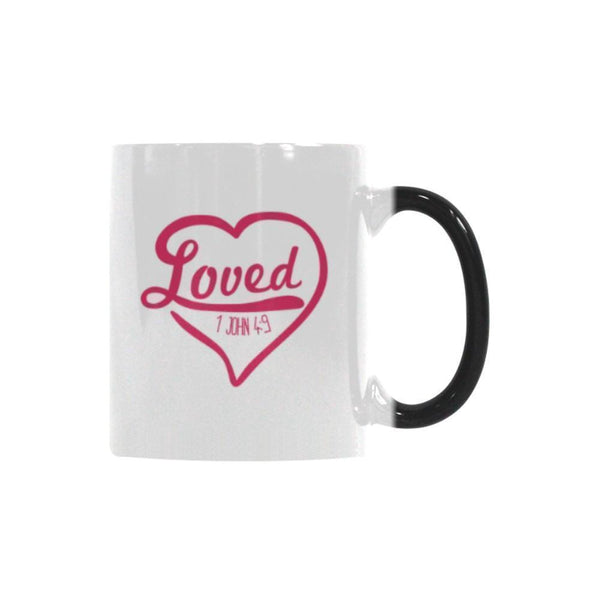 Loved 1 John 4:9 Christian Color Changing/Morphing 11oz Coffee Mug-Morphing Mug-One Size-JoyHip.Com