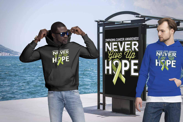 Lymphoma Awareness Never Give Up Hope Awesome Cool Gift Ideas Hoodie-T-shirt-JoyHip.Com