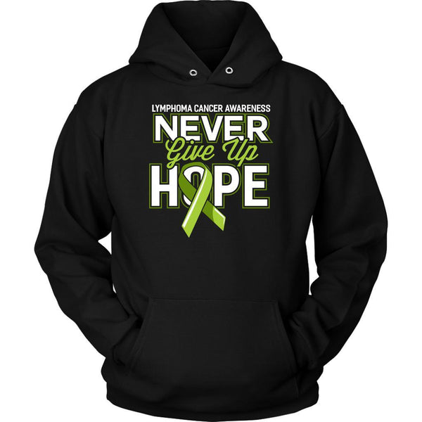 Lymphoma Awareness Never Give Up Hope Awesome Cool Gift Ideas Hoodie-T-shirt-Unisex Hoodie-Black-JoyHip.Com