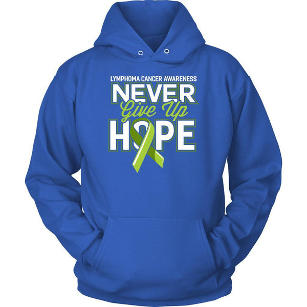 Lymphoma Awareness Never Give Up Hope Awesome Cool Gift Ideas Hoodie-T-shirt-Unisex Hoodie-Royal Blue-JoyHip.Com