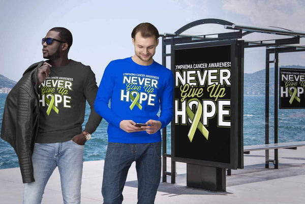 Lymphoma Awareness Never Give Up Hope Awesome Cool Gift Ideas Sweater-T-shirt-JoyHip.Com