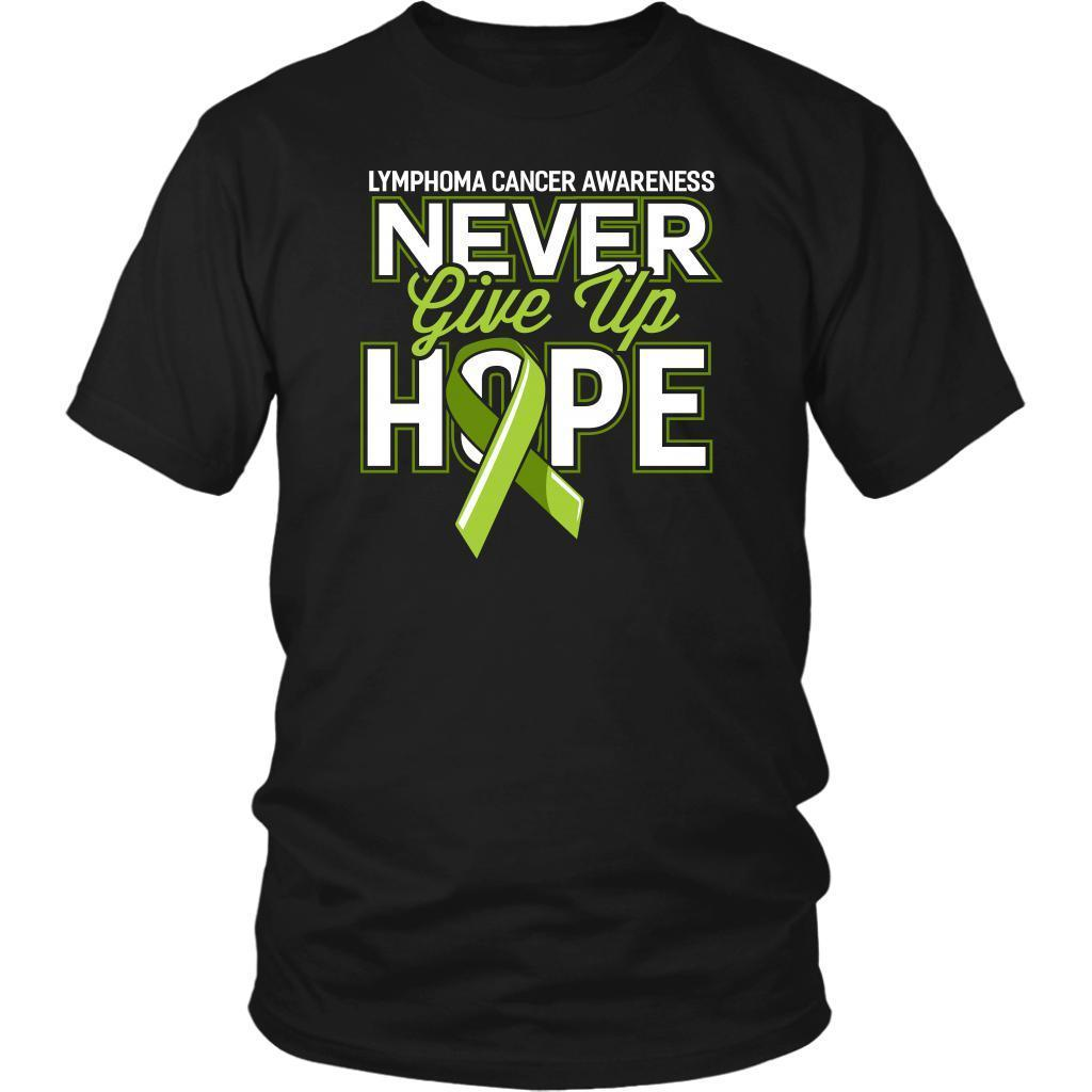 Lymphoma Awareness Never Give Up Hope Awesome Cool Gift Ideas TShirt-T-shirt-District Unisex Shirt-Black-JoyHip.Com